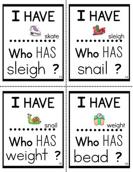 I Have Who Has Long Vowels
