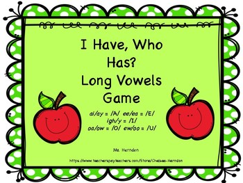 I Have Who Has Long Vowels Game