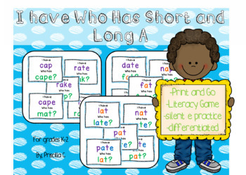 I Have, Who Has Long and Short Vowel BUNDLE