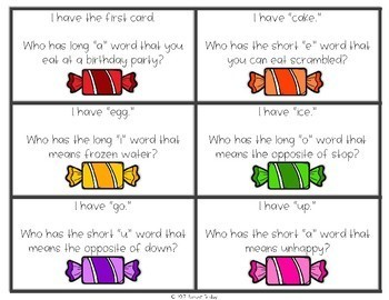 I Have, Who Has - Long or Short Vowels