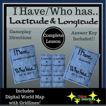 I Have/Who Has - Loop Game:  Latitude and Longitude