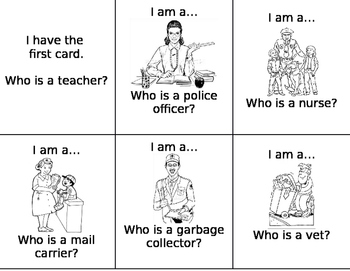 I Have Who Has Loop cards Community Helpers