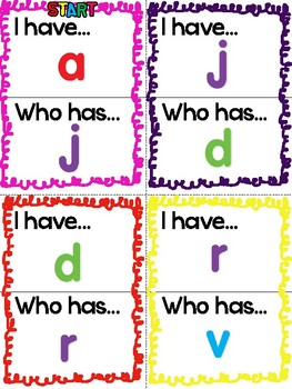 I Have! Who Has? - Lowercase Letters