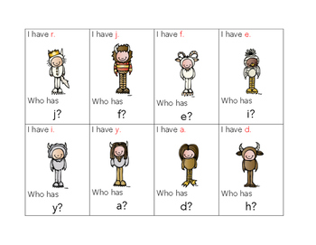 I Have... Who Has Lowercase Letters Edition (Theme: Where the Wild Things Are)