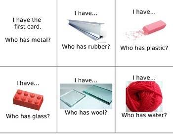 I Have Who Has Materials