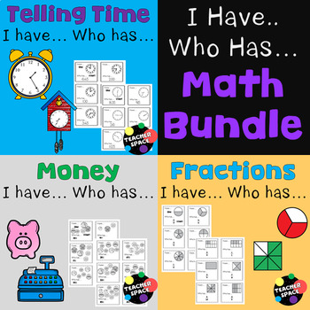 I Have... Who Has... Math Bundle