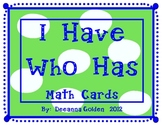 I Have Who Has Math Cards