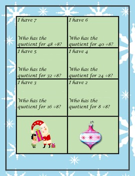 I Have Who Has Math Cards 4th grade!