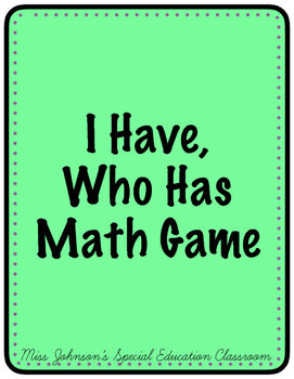 I Have, Who Has Math Game
