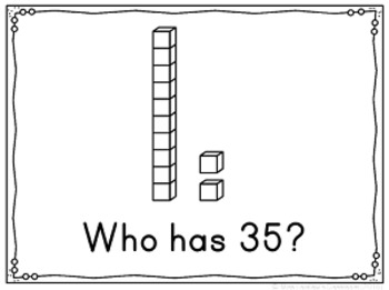 I Have, Who Has? (Math Game) - Base 10 - Numbers 1-50