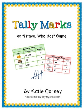 """I Have, Who Has?"" Math Game - Tally Marks (1-20)"