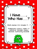 I Have, Who Has Math Games (Intermediate Grades)