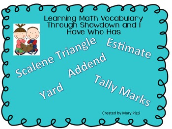 I Have Who Has Math Vocabulary With Showdown PowerPoint
