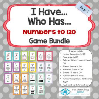 I Have Who Has Mega Number Game Bundle