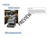 I Have Who Has Mesopotamia Review Game
