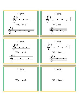 "I Have Who Has ""Mi Re Do"" Patterns (Unit 4 Set 4A G Major)"