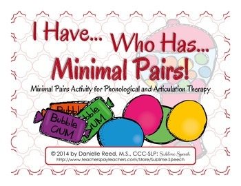 I Have Who Has Minimal Pairs