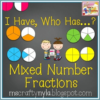 Mixed Fractions 'I Have Who Has' Game