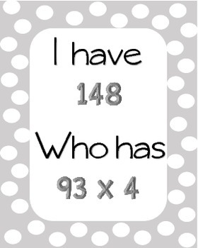 I Have, Who Has Mixed Operations Freebie