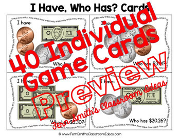I Have Who Has Games Money Bundle