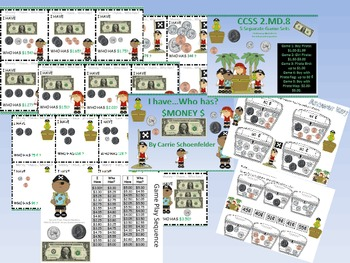 I Have Who Has Money CCSS 2.MD.8 Game