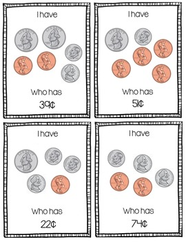 """""""I Have, Who Has?"""" Money/Coins Game"""