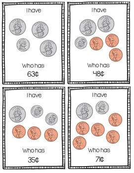 """I Have, Who Has?"" Money/Coins Game"