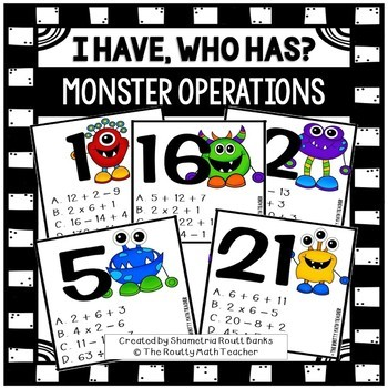 I Have, Who Has: Monster Operations