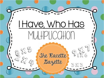 I Have Who Has -Multiplication