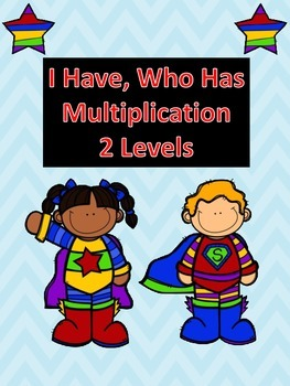I Have, Who Has Multiplication 2 Levels