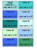 I Have Who Has Multiplication 5s, 6s, 7s