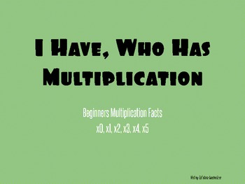 I Have, Who Has? Multiplication Cards