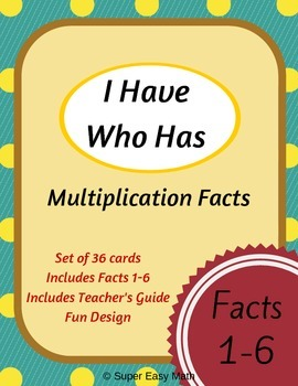 I Have Who Has (Multiplication Facts 1-6)