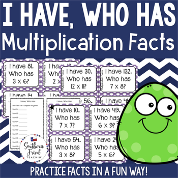 I Have, Who Has - Multiplication Facts