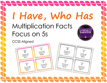 I Have Who Has Multiplication Facts Focus on 5s