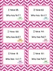 I Have, Who Has: Multiplication Facts (Owl Theme, Pink Chevron)