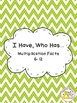 I Have, Who Has: Multiplication Facts (Owl Theme, Green Chevron)