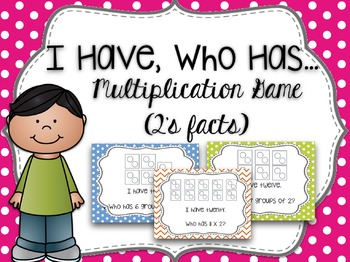 I Have, Who Has Multiplication Game (2's Facts)