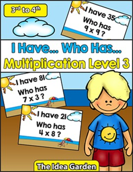 I Have, Who Has - Multiplication Level 3