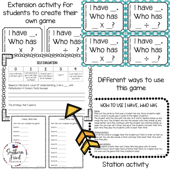 Multiplication and Division Facts