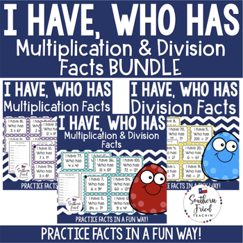 Multiplication and Division Facts Bundle - I Have, Who Has