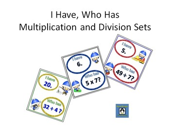 I Have, Who Has Multiplication and Division Set