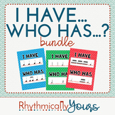 I Have....Who Has? Music Game BUNDLE