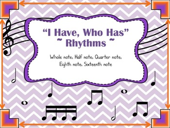 """""""I Have, Who Has"""" Music Game, Rhythms"""