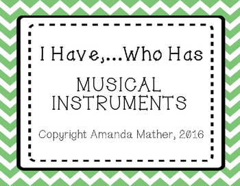 I Have, Who Has - Musical Instruments