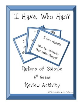 I Have, Who Has? Nature of Science Review