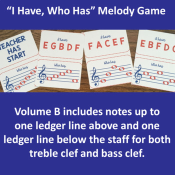 I Have, Who Has – Note Name Music Game Set B