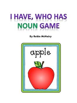 I Have, Who Has Noun Game