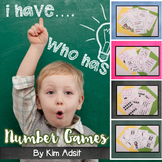 I Have Who Has Number-Dominoes, Fives Frame, Tens Frame, Rekenreks by Kim Adsit