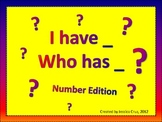 I Have, Who Has? Number Edition aligned to Common Core